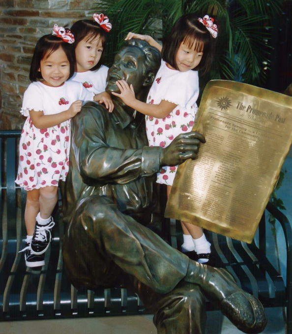 Father at the Promenade with Children